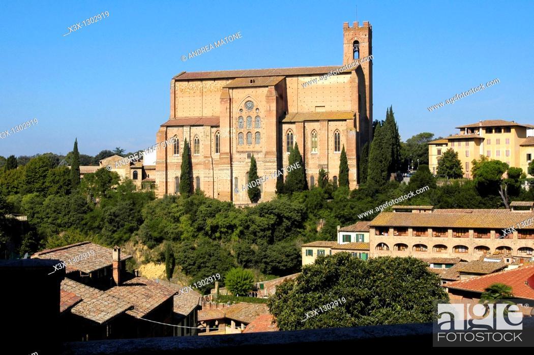 Stock Photo: Basilica of San Domenico, Siena, Italy.