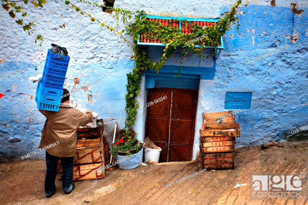 Stock Photo: Chefchaouen, Morocco.