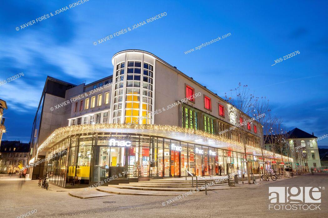 Stock Photo: Place de Genève in Chambery, Savoie, Rhône-Alpes, France.
