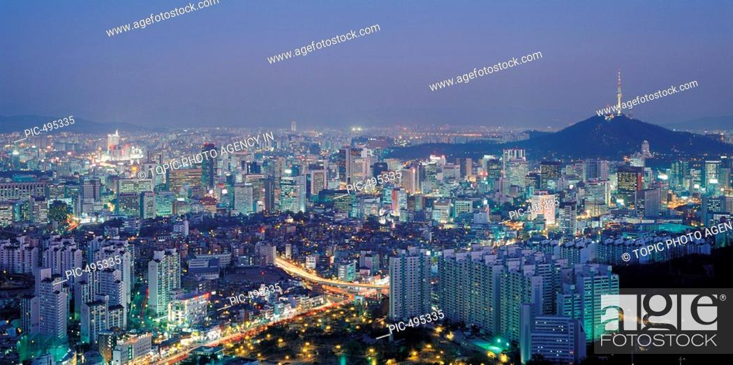 Stock Photo: Night view of Soeul,Korea.