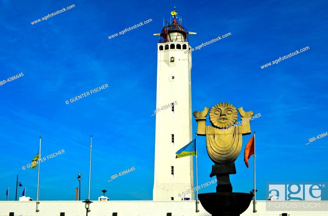 Stock Photo: Noordwijk Lighthouse, South Holland, Netherlands.