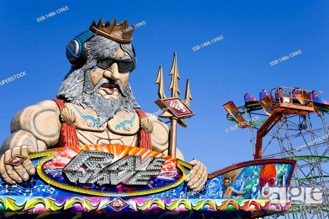 Stock Photo: Sculpture at an amusement park, Orange County Fair, Costa Mesa, Orange County, California, USA.