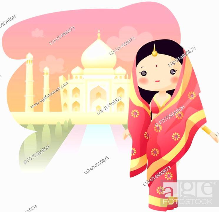Stock Photo: India, TajMahal, tourist attractions, sightseeing, tourism, india.