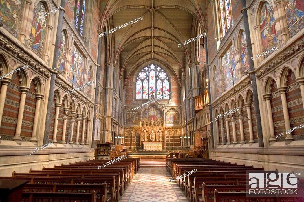 Stock Photo: England, Oxfordshire, Oxford, Chapel of Keble College. The foundation stone for the Chapel was laid on St Mark's Day 1873 and was officially opened on the same.
