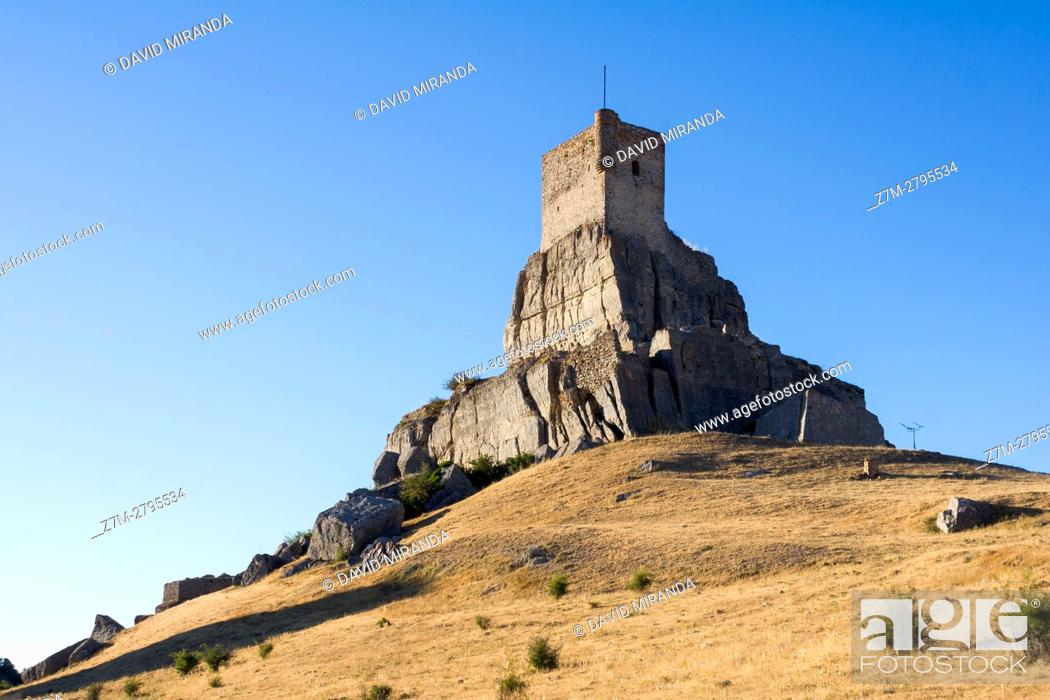 Stock Photo: Castle of Atienza, Guadalajara province, Castile La Mancha, Spain. Historical Heritage Site.