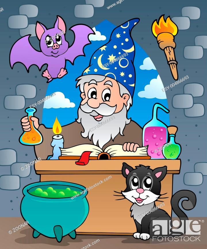 Stock Photo: Alchemist theme image 2 - picture illustration.