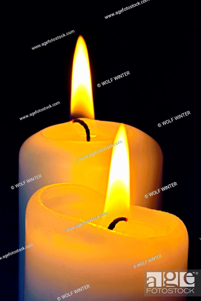 Stock Photo: Candles of Advent.