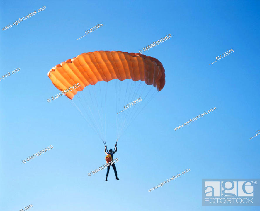 Stock Photo: Paraglider.