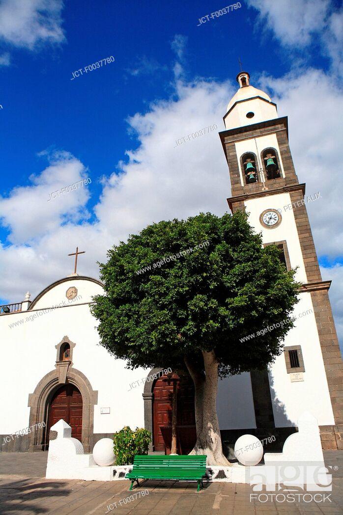 Stock Photo: Spain, Canary islands, Lanzarote, Arrecife, Iglesia San Gines.