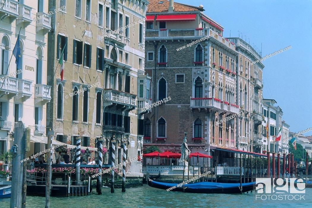 Stock Photo: Italy - Venice - The Grand Canal - view on palazzi.