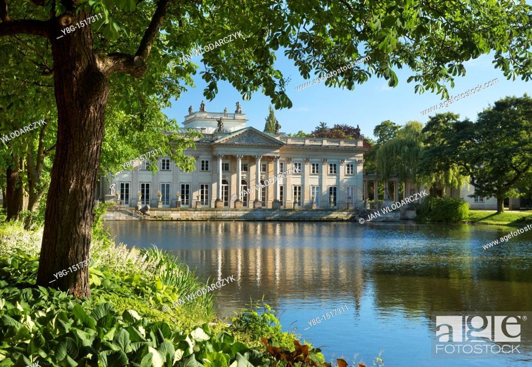 Stock Photo: Warsaw, Lazienki Royal Palace , Poland, Europe.
