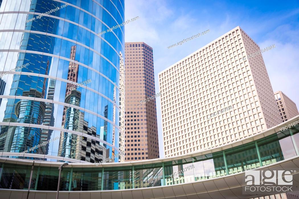 Stock Photo: Modern Architecture in Downtown Houston, Texas, USA.