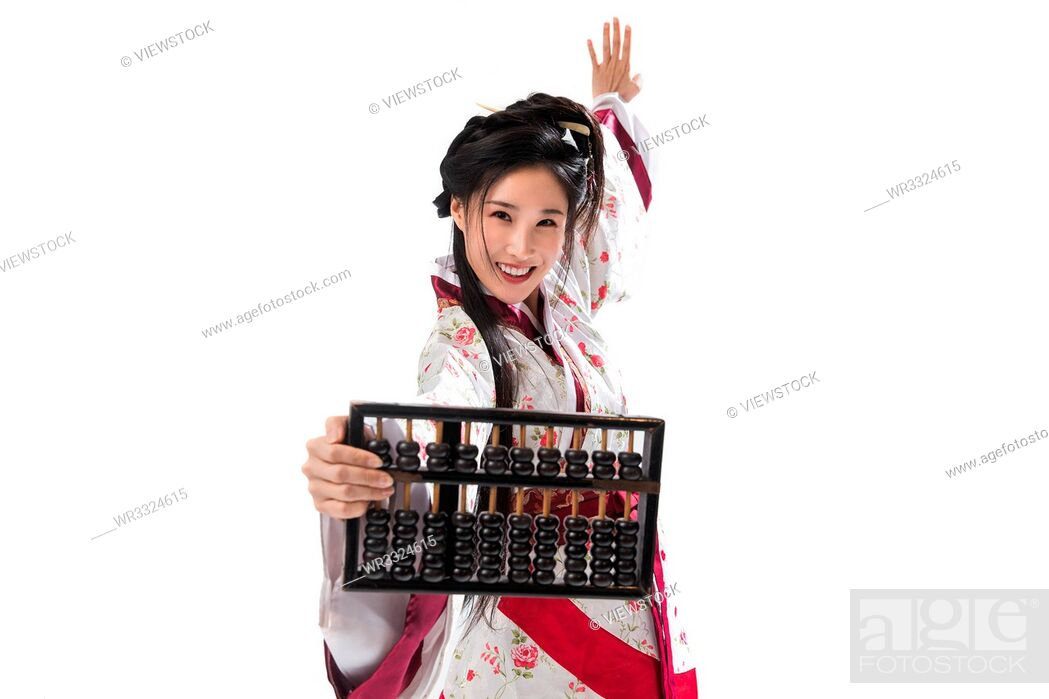 Stock Photo: Ancient costume beauty.