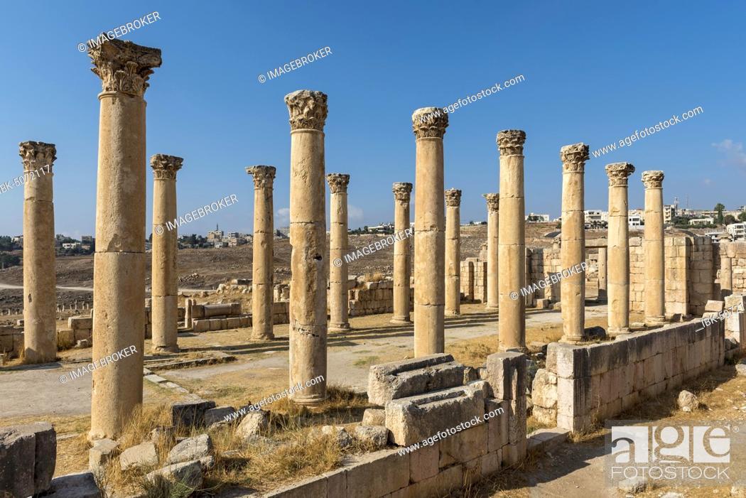 Stock Photo: Church of St. Theodore, Jerash, Jordan, Asia.