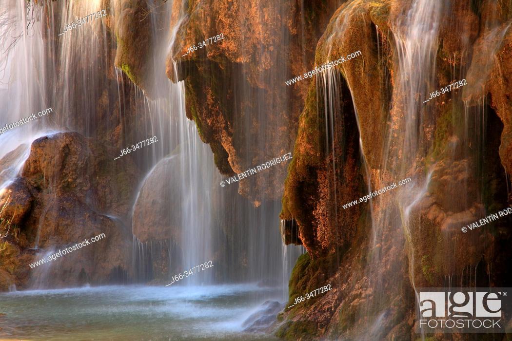 Stock Photo: Cuervo river birth. Natural park Sierra Cuenca.