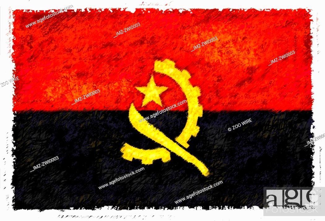 Stock Photo: Flag of Angola.