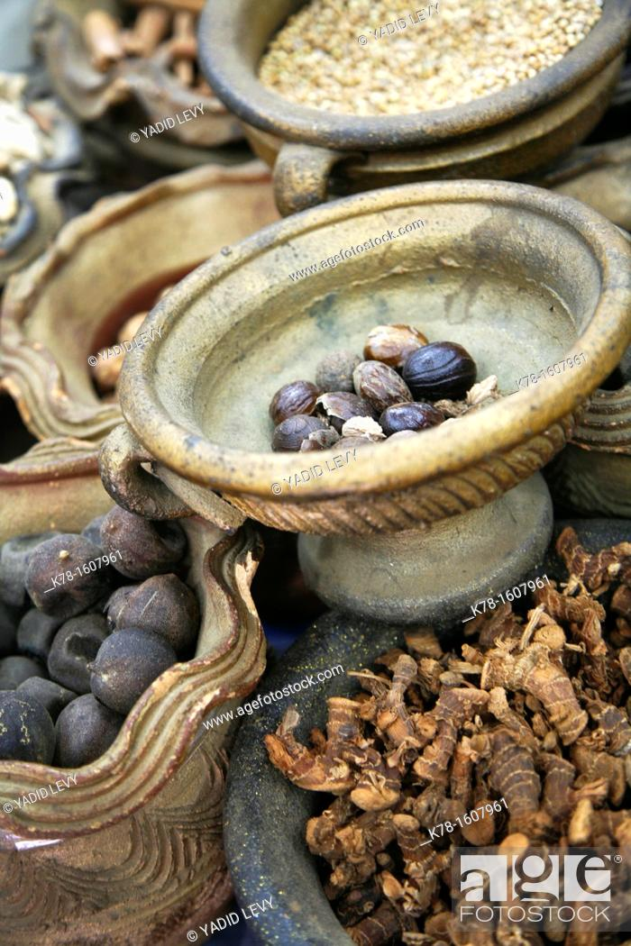 Stock Photo: Spices in the souq, Aqaba, Jordan.
