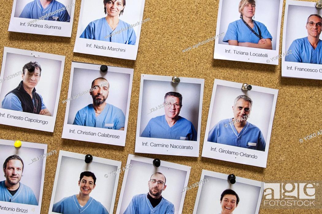 Imagen: Italy, Pavia, San Matteo hospital, portraits of nurses and doctors.