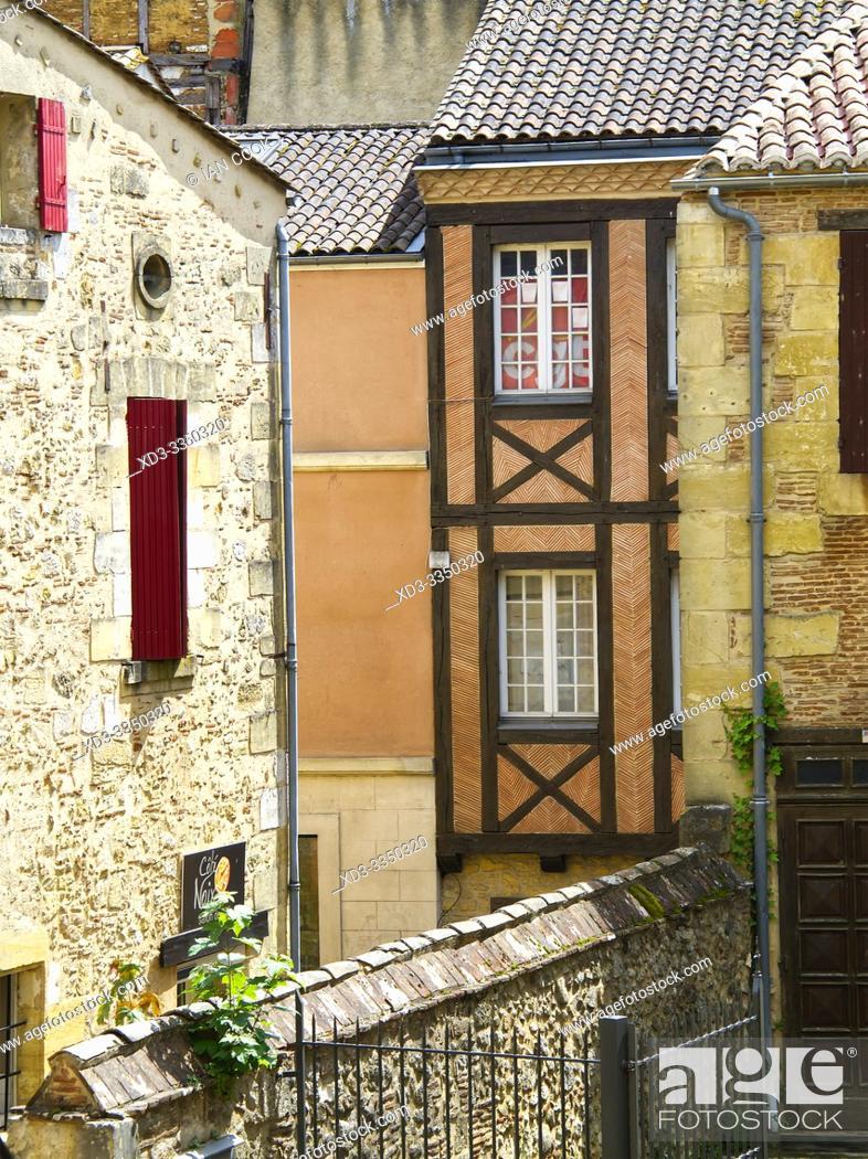 Stock Photo: architectural details, Bergerac, Dordogne Department, Nouvelle Aquitaine, France.