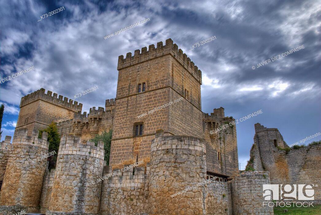 Stock Photo: Castle of Ampudia (15th Century). Ampudia. Palencia Province. Castilla y León. Spain.