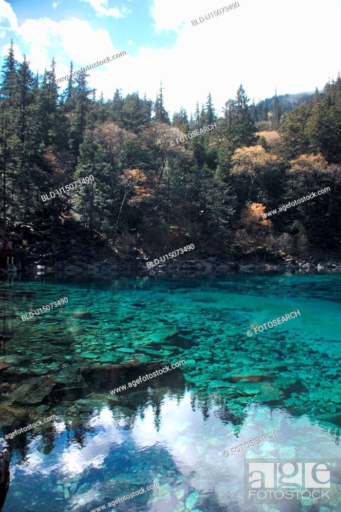 Stock Photo: valley, scenery, lake, mountain, landscape, season, nature.