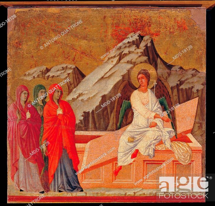 Imagen: Maestà (Maestà del Duomo di Siena), by Duccio di Buoninsegna, 1308-1311, 14th Century, tempera on board, 211 x 426 cm.