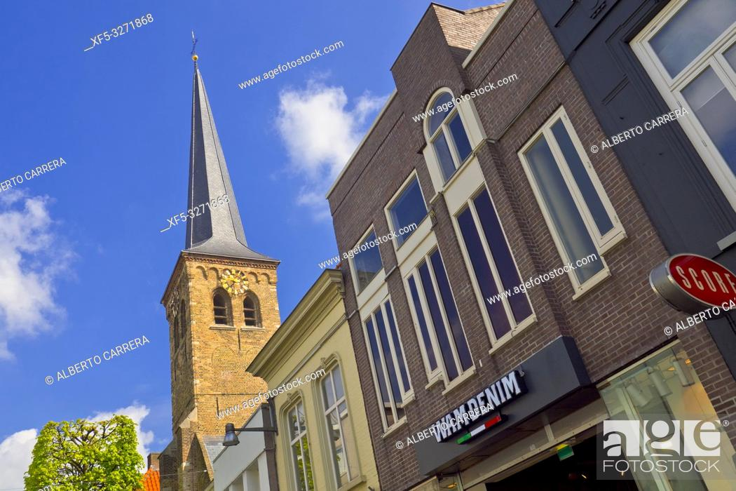 Photo de stock: Sint-Joostkapel, Street Scene, Traditional Architecture, Breda, Noord-Brabant Province, Holland, Netherlands, Europe.