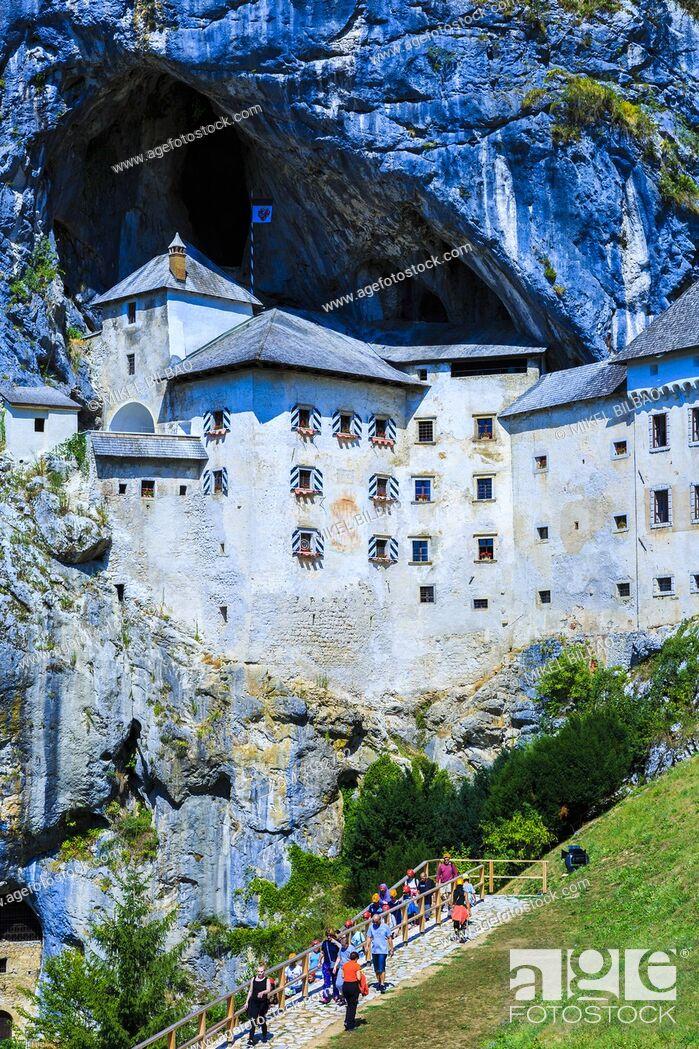 Stock Photo: Predjama Castle. Predjama. Inner Carniola region. Slovenia, Europe.