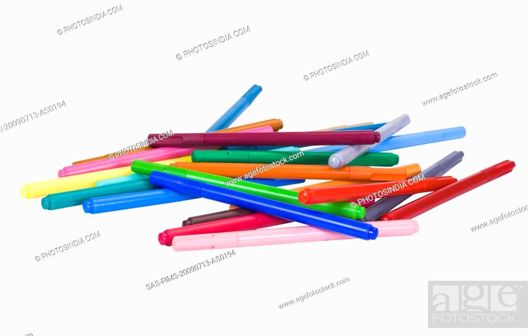 Stock Photo: Close-up of felt tip pens.