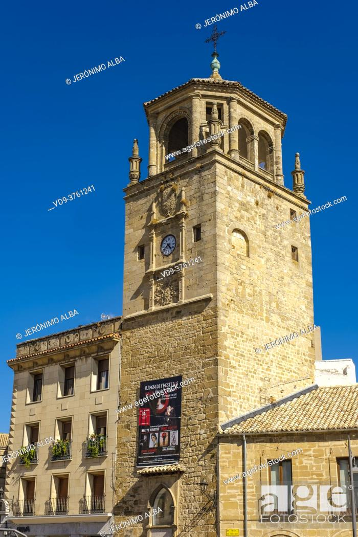 Imagen: Clock tower at Andalusia Square, Ubeda, UNESCO World Heritage Site. Jaen province, Andalusia, Southern Spain Europe.