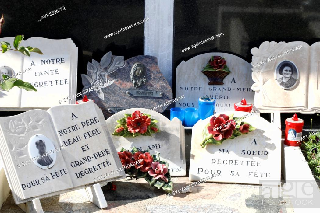 Stock Photo: France, Corsica, city of Ajaccio, the marine cemetery.