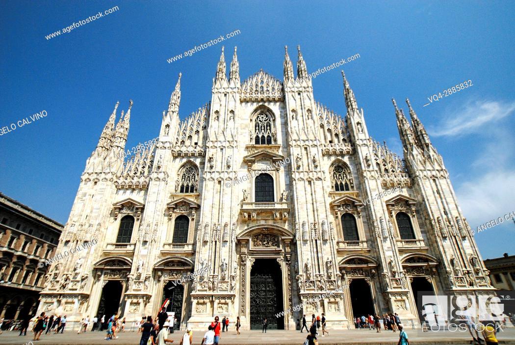 Photo de stock: Milan Cathedral, Piazza Duomo, Milano, Lombardy, Italy.
