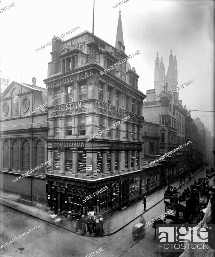 View of nos 59 - 60 Cornhill, London including the YMCA