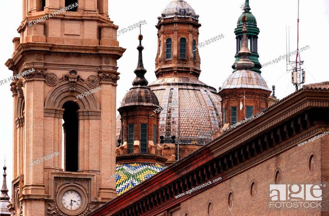 Imagen: Nuestra Senora des Pilar Basilica, Saragossa, Zaragoza, Aragon, Spain, Europe.