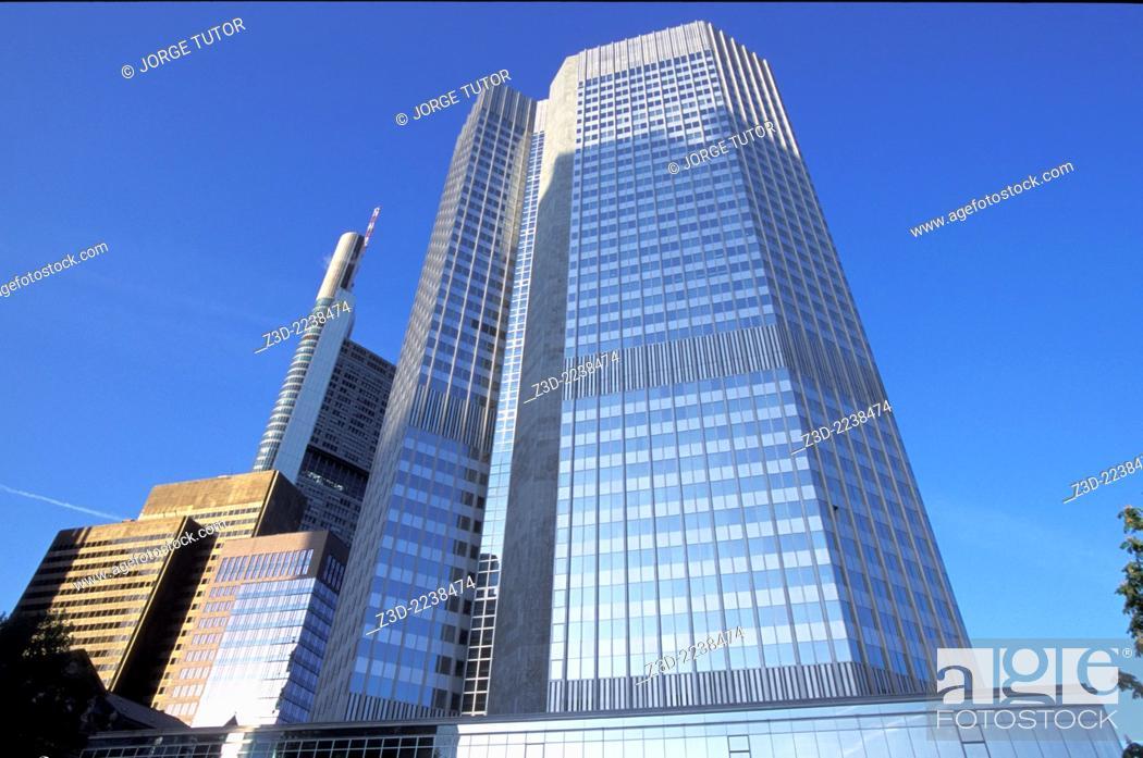 Stock Photo: European Central Bank BCE headquarters in Frankfurt, Germany.