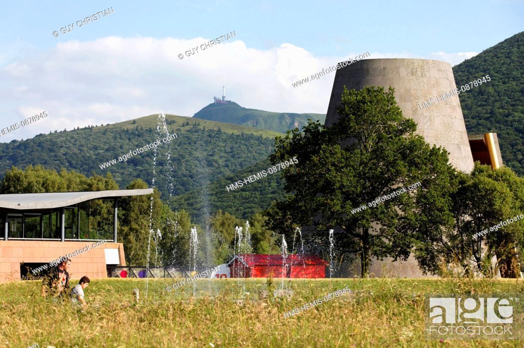 Stock Photo: France, Puy de Dome, Parc Naturel Regional des Volcans d'Auvergne (Natural regional park of Volcans d'Auvergne), Saint Ours, Vulcania.
