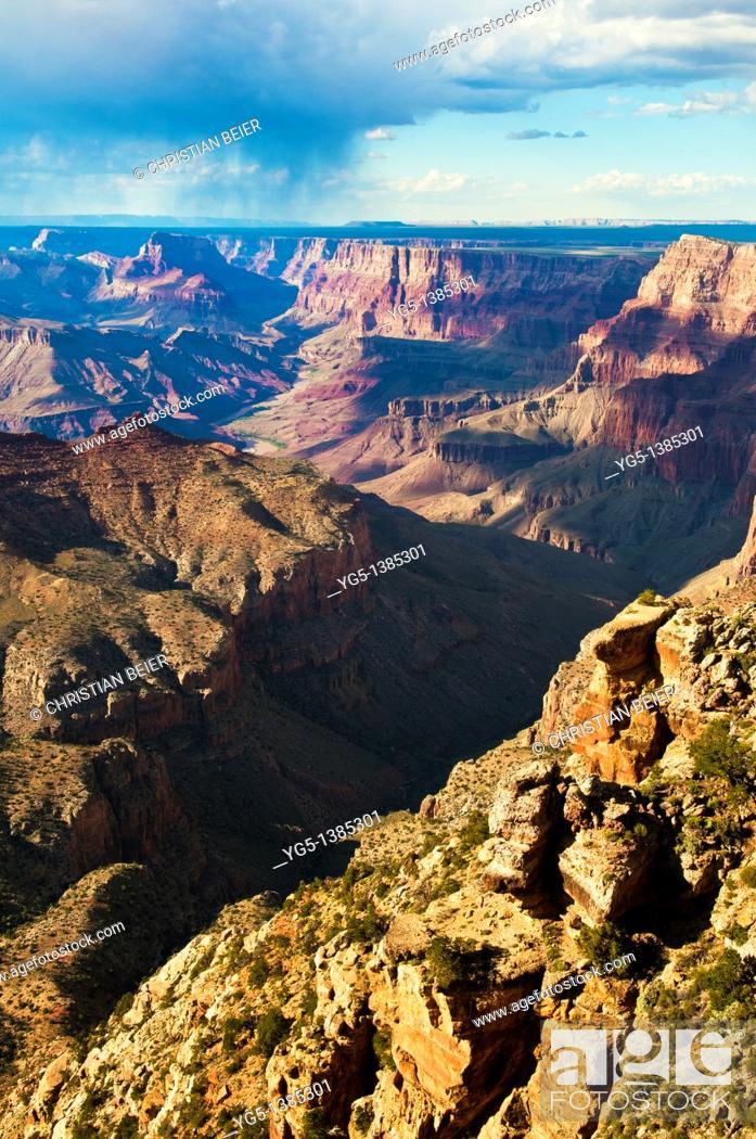 Stock Photo: Sunset at Navajo Point, Grand Canyon National Park, South Rim, Arizona, USA.