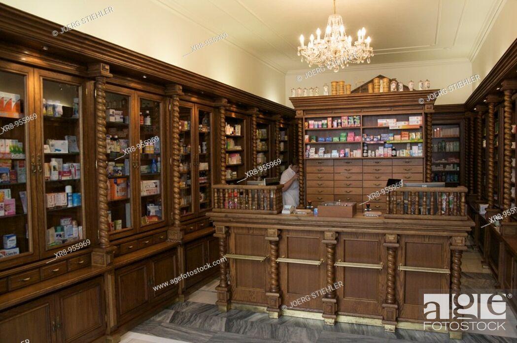Stock Photo: Pharmacy, Hranice, Czech Republic.