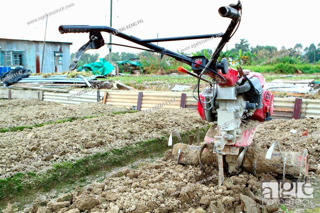 Stock Photo: farming tractor.