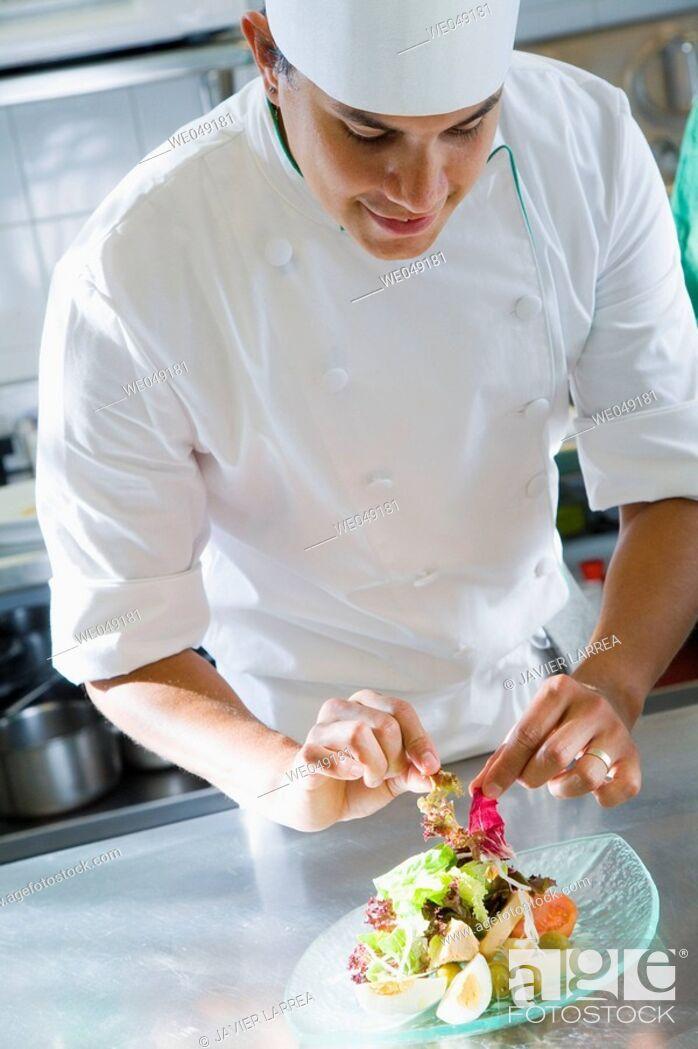 Stock Photo: Salad. Luis Irizar cooking school. Donostia, Gipuzkoa, Basque Country, Spain.