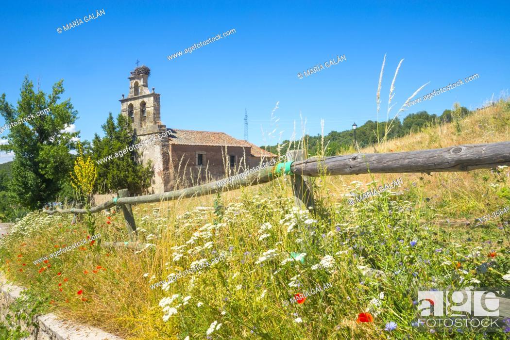 Stock Photo: Church. Siguero, Segovia province, Castilla Leon, Spain.