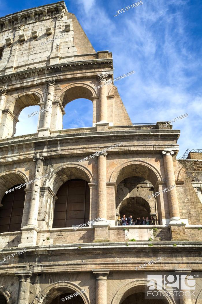 Stock Photo: Rome, Italy. The Colosseum. Exterior.