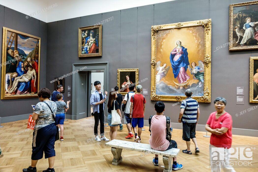 Stock Photo: New York, New York City, NYC, Manhattan, Upper East Side, Fifth Avenue, Metropolitan Museum of Art, Met, gallery, painting, Italian Baroque, Guido Reni.