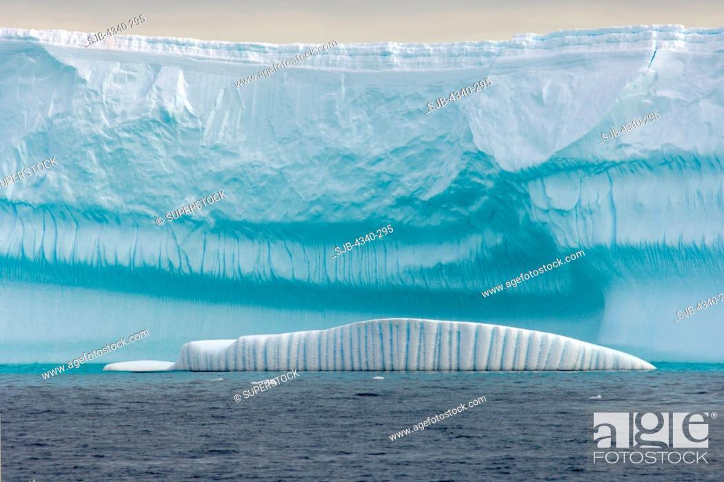 Stock Photo: Iceberg and Glacier.