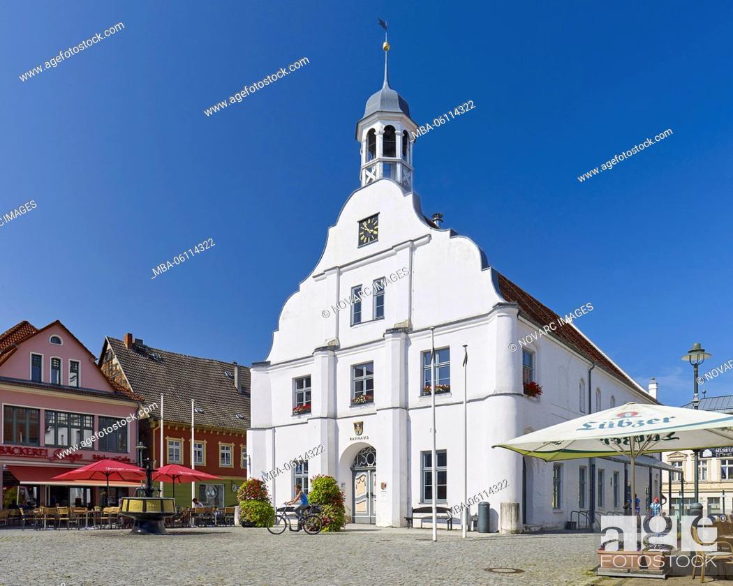 Stock Photo: Old city hall in Wolgast, Mecklenburg-Western Pomerania, Germany.