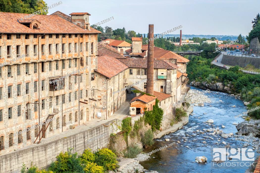 Stock Photo: Production Line abandoned. Biella, Piemonte. Italy.