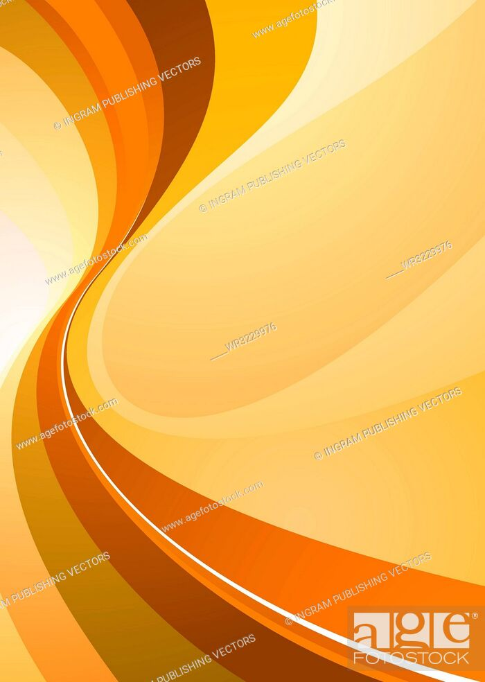 Vector: Orange background illustration with room to add your own text.