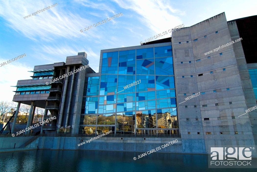 Stock Photo: Palacio Euskalduna, Bilbao. Biscay, Euskadi, Spain.