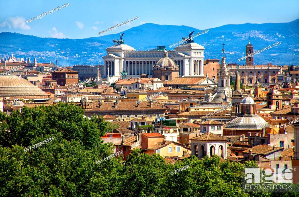 Stock Photo: view over Rome.