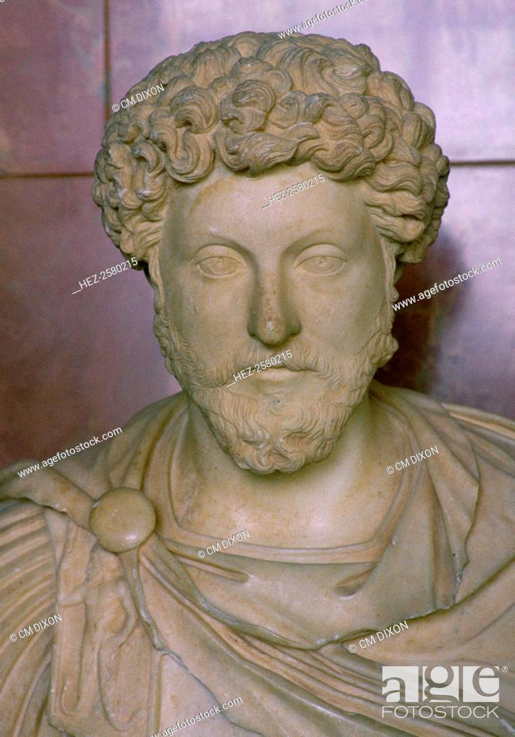 Bust Of The Roman Emperor Marcus Aurelius 121 180 From The